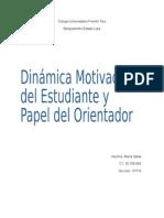 Dinamica Motivacional Del Estudiante y Papel Del Orientador
