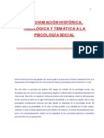 Aproximacion Histórica, Ideológica y Temática de La Psicología Social