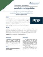Detectores de Radiacion Geiger Muller