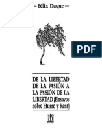 Félix Duque - De La Libertad de La Pasión a La Pasión de La Libertad