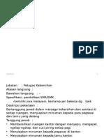 Jobdesc&Spec Petugas Kebersihan