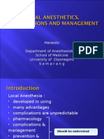LOCAL ANESTHETICS, COMPLICATIONS AND MANAGEMENT.ppt