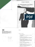 Jorge Carpizo - El Presidencialismo Mexicano