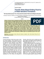 Environmentally Friendly Water Based Drilling Fluid for Drilling of Water Sensitive Formations