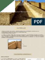 Caracteristicas de Arquitectura Mesopotamica