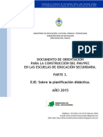 Documento de Orientación PEC 2015 - Parte 3 - Planificación Didáctica