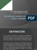 Planes de Aceptacion de variables calidad