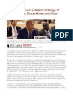 Sri Lanka a Four-pillared Strategy of Truth, Justice, Reparations and Non-recurrence
