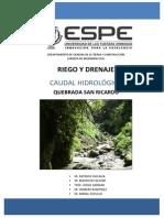 Quebrada San Ricardo - Caudal Hidrológico.pdf