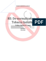 De-normalization of Tobacco Industry Paper