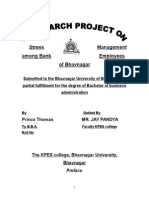 24163889 Project of Stress Management Among Bank Employees