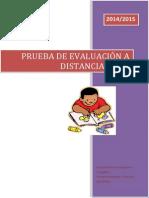 Prueba de Evaluación a Distancia 2014 2015 UNED Diagnóstico Pedagógico