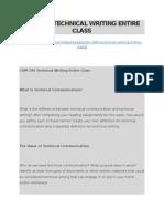 Com 340 Technical Writing Entire Class
