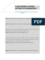 Humn 303 Entire Course Introduction to Humanities