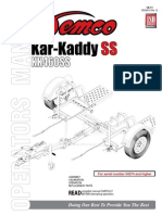 Car Dolly Illustrsated Parts Diagram