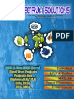 IEEE 2015 PROJECT LIST BY SPECTRUM SOLUTIONS,PONDICHERRY