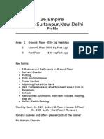 Rent Profile of 36,Empire Estate,Sultanpur,New Delhi