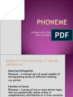 PHONEME and ALLOPHONE