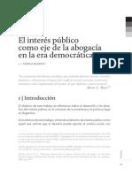 El Interés Público Como Eje de La Abogacía.