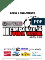 Bases II Campeonato de Fútbol Virtual