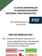 Upaya Pogi Untuk Memperluas Cakupan Pelayanan Kesehatan Maternal