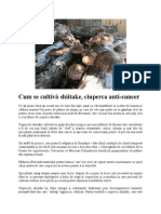 Shiitake, Ciuperca Anti-cancer