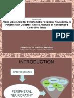ALA in Diabetic Neuropathy