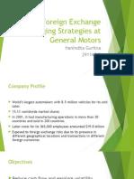 Foreign Exchange Hedging Strategies at General Motors