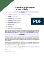 Basic Ion Exchange Processes