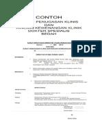 CONTOH Surat Keputusan Penugasan Klinis Dan Kewenangan Klinis Bedah)