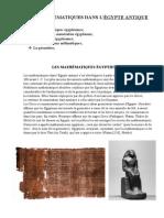 Les Mathématiques Dans l'Égypte Antique