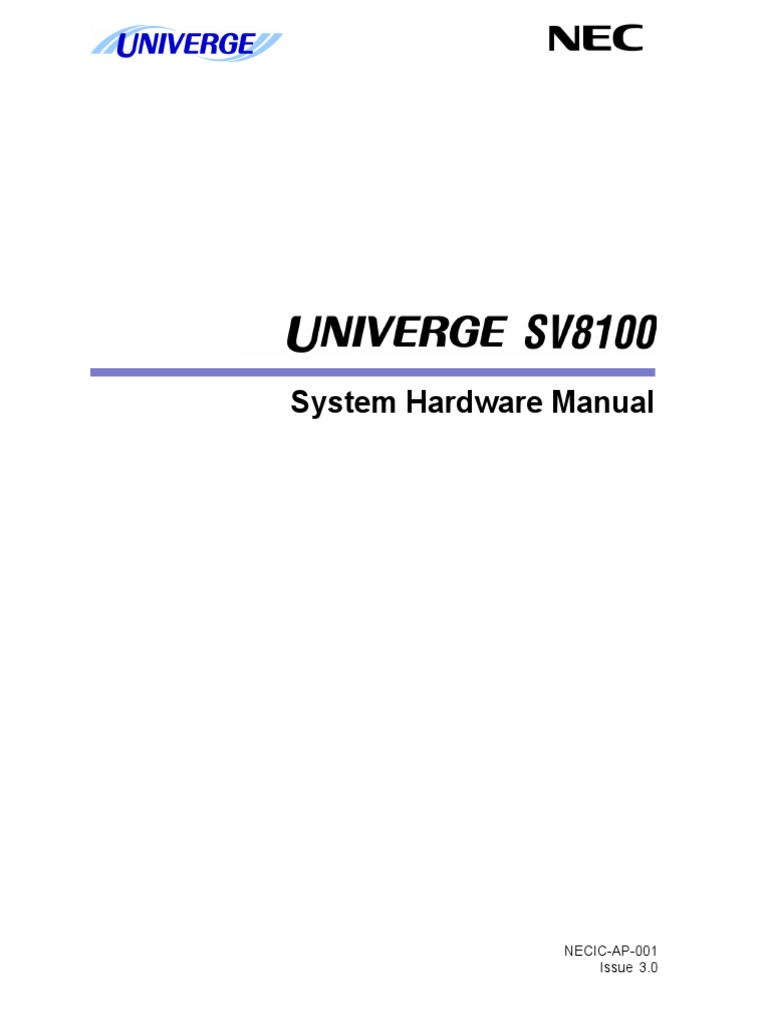 SV8100 Hardware Manual (3[1] 0GE) | Electrical Connector