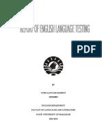 Assignment of English Language Testi