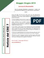 Newsletter di MAGGIO e GIUGNO 2015 del Gruppo Consiliare PD di Zona 7-Milano