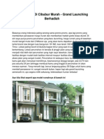 Jual Rumah Di Cibubur Murah - Grand Launching Berhadiah - www.rumahku.com