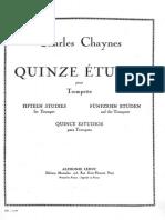 Charles Chaynes - Fifteen Studies