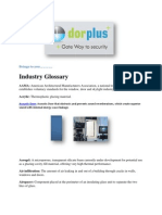 Window and Door-Industry Glossary