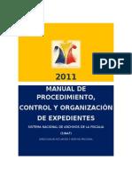 Manual de Procedimiento y Control Organizacion de Expedientes