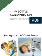 IV Bottle Contamination