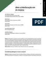 Refletindo Sobre a Intrlocução Em Pesquisas Com Musica - J.a Salgado