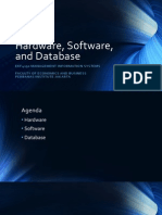 Hardware, Software, And Database