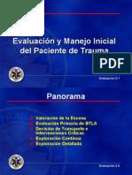 Evaluación y Manejo Inicial Del Paciente de Trauma