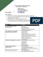 Financial Management Course Outline