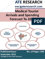 India Medical Tourist Arrivals and Spending Forecast to 2020