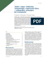 2009 Hallux Valgus, Definición, Fisiopatología, Exploración Física y Radiográfica, Principios Del Tratamiento