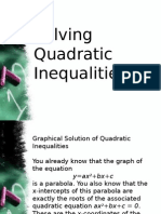 3.4 Solving Quadratic Inequalities