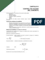 Cap. IX Control de Calidad Tecnologia del Concreto