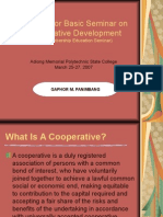 Lectures for Basic Seminar on Cooperative Development 1203395026675748 4