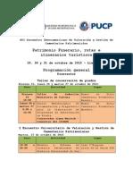 Programación General XVI Encuentro Iberoamericano de Cementerios Patrimoniales