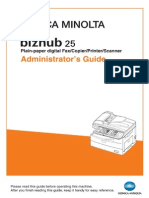 Bizhub 25 Administrators Guide